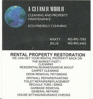 RENTAL PROPERTY CLEANING / CARPET CLEANING