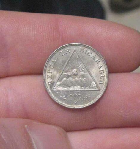 Nicaragua - 1899 Copper-Nickel 5 Centavos - Very Nice Coin!