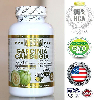 Pure 95  Hca Garcinia Cambogia Extract Diet Weight Loss Slimming Fat Burner Usa