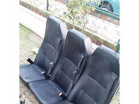 CREW VAN/TAXI/MINIBUS SEATS X3 SCOTSEAT LEATHER BLACK