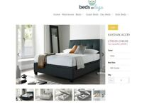 Double Ottoman bed + mattress - As New
