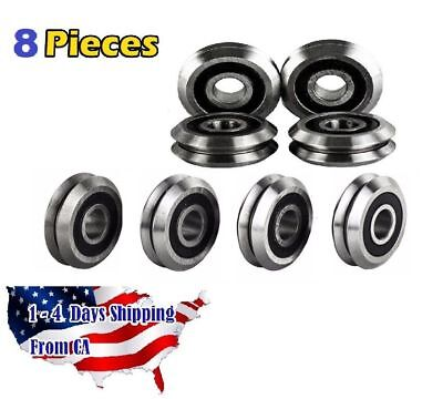 Rm2-2rs 38 V Groove Roller Bearing Rubber Sealed Line Track 8pcs