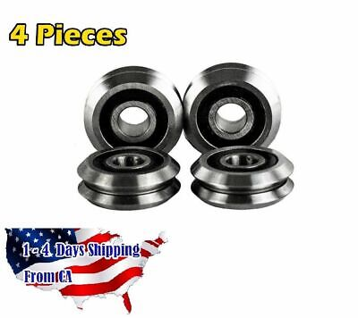 Rm2-2rs 38 Inch V Groove Roller Bearing Rubber Sealed Line Track 4pcs