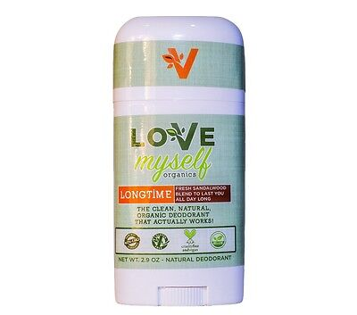 (Natural Organic Deodorant Love Myself Organics Longtime Sandalwood for Men Women)
