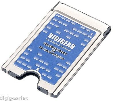 Digigear SD Sdhc Sdio Sdxc MMC To PCMCIA PC Card Adapter Reader Support 32 64 GB