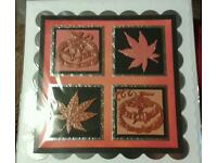 "Halloween card 8"" square scalloped edges"