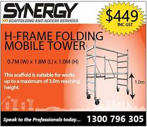 Synergy Scaffolding Aluminium– H-Frame Foldable Revesby Bankstown Area Preview