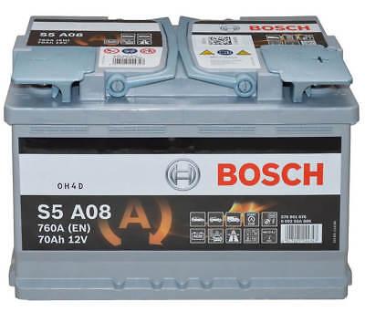 Versorgung Caddy (Autobatterie Bosch S5 A08 - 12 V / 70 Ah - 760 A/EN AGM KFZ PKW Batterie)