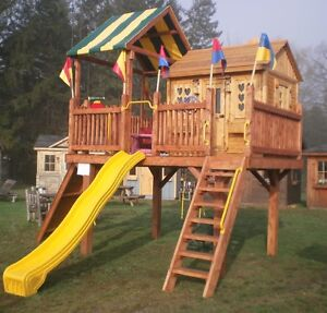 Kids outdoor play structures and play houses