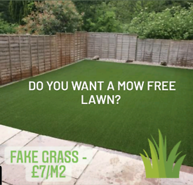 ARTIFICIAL AND FAKE GRASS FROM £7/M2