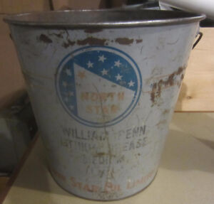 North Star Grease Pail Garage Service Station Collectible