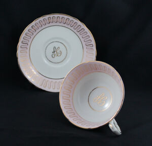 Paragon Light Pink and Gold Appt to The Queen Teacup & Saucer