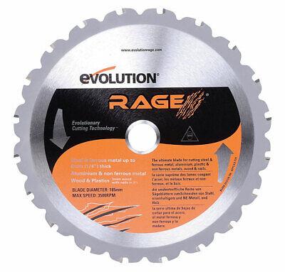 Evolution  Rage  7-1/4  Carbide Tip Steel  Rage  Circular Saw Blade  0.067 in. ()