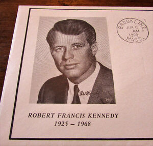1968 Robert Francis Kennedy Commemorative 6 Cent Cover Kitchener / Waterloo Kitchener Area image 2