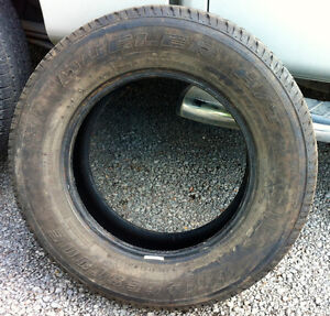 Four all-season light truck/SUV tires, only used in summers