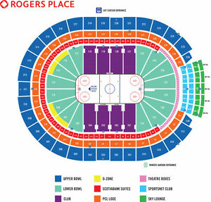 Edmonton Oiler Home Game Tickets - Rogers Place