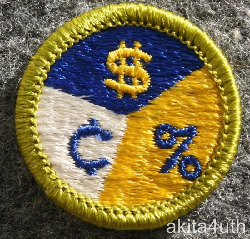 BSA Personal Finances Merit Badge - Type H Discontinued - Boy Scout