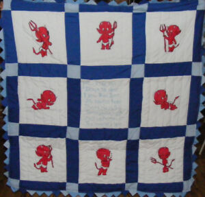Hand Painted Baby Quilt