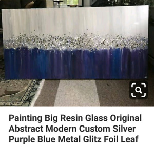 Painting Big Resin Glass Original Abstract