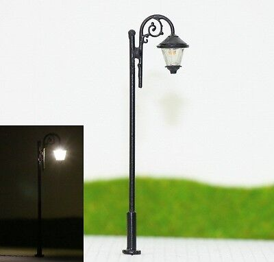 S096 Set 10 Stück Straßenlampen 3-flammig 6cm Parkleuchten Parklampen