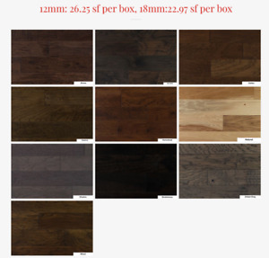 "NAF 1/2"" & 3/4"" Hickory Handscraped Engineered Wood Floors"