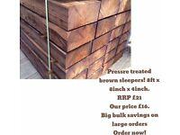 brand new 2.4 x 200 x100 brown sleepers