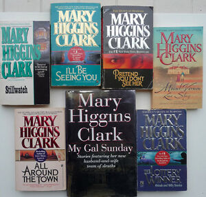 7 Mary Higgins Clark novels -including a hardcover first edition