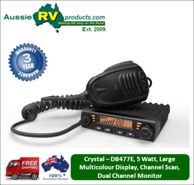 DB477E - Crystal 5 Watt, 80 Channel, Ultra Compact In-Car UHF CB Radio, AUTHORIS