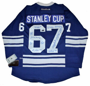 Toronto Maple Leafs 1967 Stanley Cup Team signed jersey