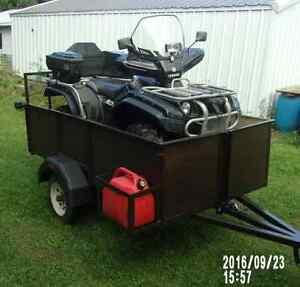 2,200 lbs cap. 4x8 tilting utility/ATV trailer