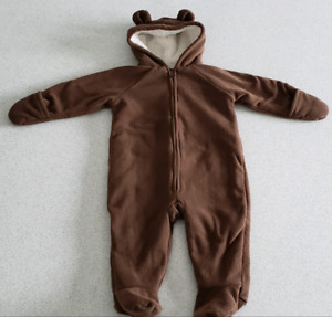 Fleece one-piece suit (6-12months)