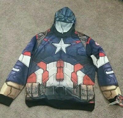 NWT Marvel Captain America Hoodie Avengers Age Of - Captain America Kostüm Hoodie