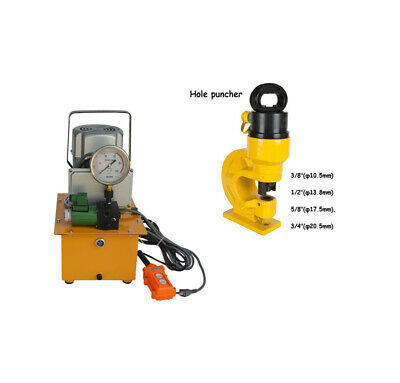 Electric Hydraulic Pumpch-60 Hydraulic Hole Punching Tool Kit Industry Use