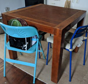 Solid wood square dining table for sale