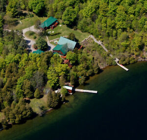 Spectacular Waterfront Retreat Available for May Log Weekend