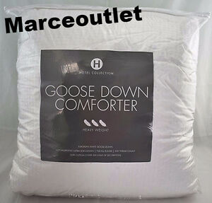 Hotel Collection European White Goose Down Comforter KING Heavy Weight