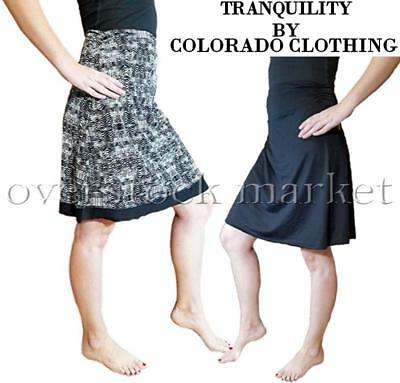 NEW WOMENS TRANQUILITY BY COLORADO CLOTHING PULL ON SKIRT! REVERSIBLE! VARIETY