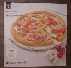 "15"" Pizza Stone With Cooling Rack"