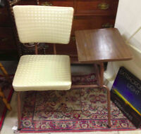 ★ Vintage 1960's Mad Men Telephone Bench ★