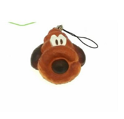 New DISNEY GOOFEY bread squishy phone charm toy CUTE