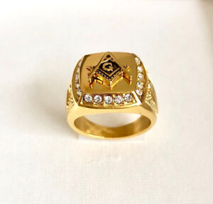 Men's •Masonic Free Mason Signet• Ring