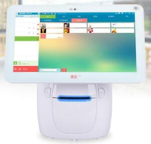 Touch Screen Double Screen Cash Register Restaurant Pos Machine With Cash Drawer Printer (028200)