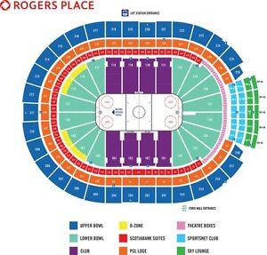 3 Oiler Tickets Row 1 Upper Bowl – NJ Devils - January 12, 2017 Edmonton Edmonton Area image 1
