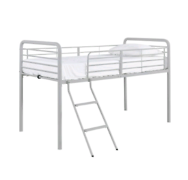 Brand new silver mid-sleeper bed frame
