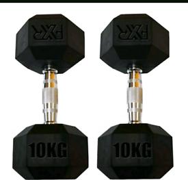 10 KG FXR Hex Dumb Bells (NEW)