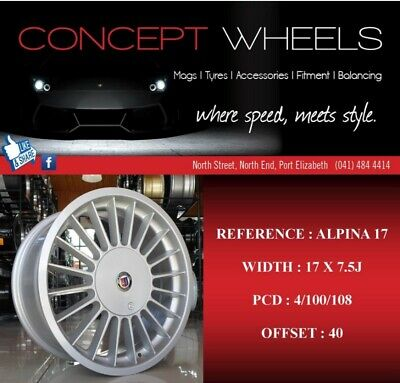 Concept Wheels New 17 Inch Alpina Rims Now In Stock For Bmw Audi Golf Honda Etc Port Elizabeth Gumtree Classifieds South Africa 557183949