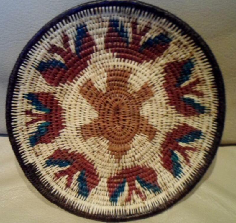 Wounaan Embera Woven Gorgeous Plate Basket-Panama 20111826mm