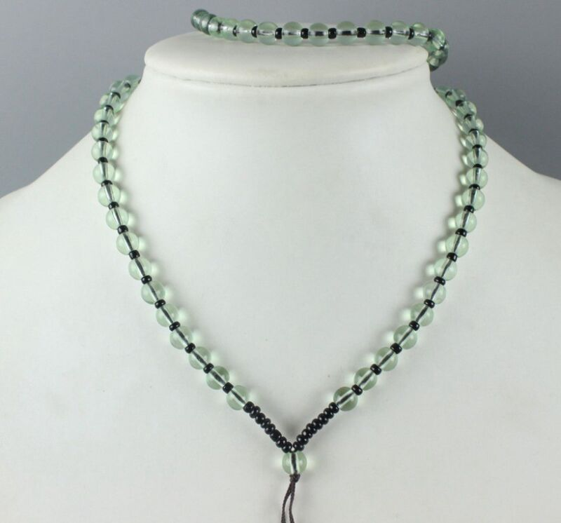 Chinese hand woven pendant jade Beads necklace Accessories