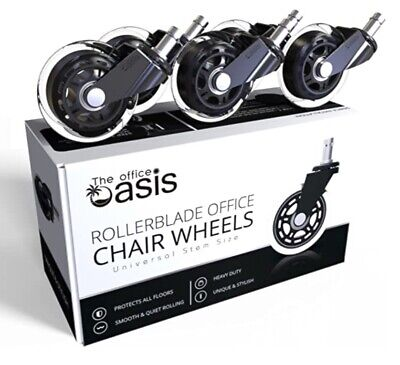 The Office Oasis Office Chair Caster Wheels Set Of 5 Heavy Duty Universal