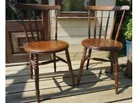 Vintage Dining / Occasional Chairs – Good Condition very Sturdy